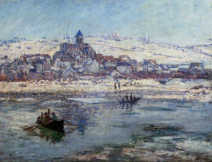 Monet Oil Painting Reproduction Vetheuil Winter Claude