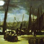 Moonlight Over The Port Boulogne Oil Canvas Mus