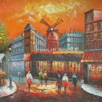 Moulin Rouge Original Oil Painting Canvas For Sale