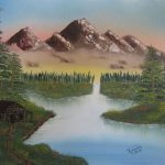 Mountain Retreat Painting Bob Ross Paintings For Sale