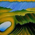 Mountains And Lake Georgia Keeffe Famous Painting