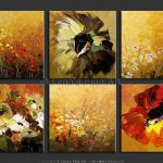 Multiple Canvas Paintings Flowers Google Search
