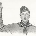 Norman Rockwell Boy Scout Pledge Pencil