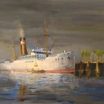 Oil Painting Ship Marine
