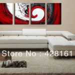 Oil Paintings Canvas Red Black White Home Decoration Modern
