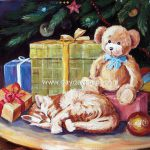 Oil Paintings Christmas Hand Painted Canvas