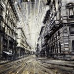 Oil Paintings Valerio Dospina Urban Painting Black And White