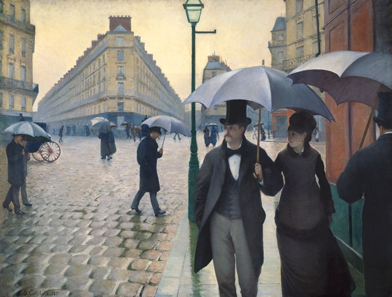 One The Art Institute Most Famous Paintings Paris Street Rainy