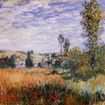 Order Monet Oil Painting Reproduction Landscape Vetheuil