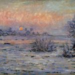 Order Monet Oil Painting Reproduction Winter Sun Lavacourt