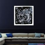 Original Black And White Abstract Art Painting