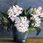 Original Bunch White Flowers Vase Paintings For Sale