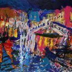 Original Paintings For Sale Expressionism Venice Rialto Bridge