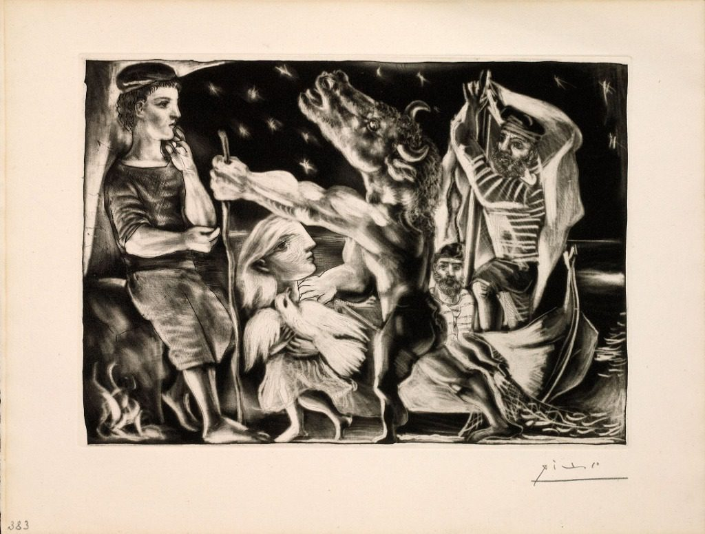 Pablo Picasso Blind Minotaur Guided Girl The Night