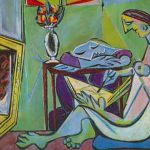 Pablo Picasso Young Woman Drawing Fine Art Reproduction Oil Painting