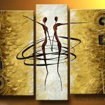 Painted Modern Art Abstract Huge Figurative Oil Painting Canvas
