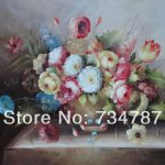 Painting Colorful Flowers Living Room Decoration Still Life