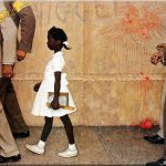 Painting Norman Rockwell Iconic Image The Civil Rights