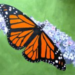 Painting Paintings Monarch Butterfly Art Acrylic Canvas