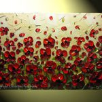 Painting Red Poppies Modern Flower Poppy Floral