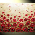 Painting Red Poppy Modern Flower Poppies Floral