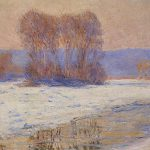 Painting Reproduction The Seine Bennecourt Winter Claude