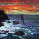 Painting Sunset Page Church About