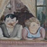 Painting Wilhelm Lachnit Man And Woman The Window