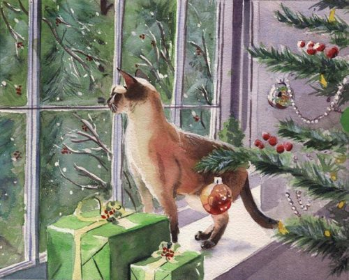 Paintings Christmas Hand Painted Canvas