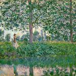 Paintings Trees Rivers Claude Monet Impressionism Nature