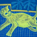 Perez Matisse Cat Reverse Fine Art Prints And Posters For Sale