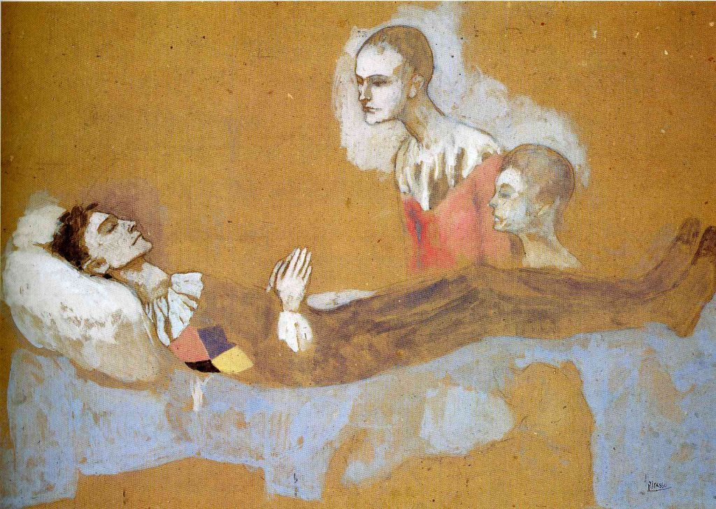 Period Mother And Baladins Pablo Picasso Rosad