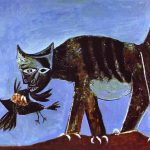 Picasso Art Wounded Bird And Cat