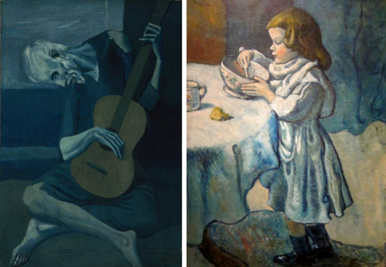 Picasso Blue Period Are Somber Paintings Mostly