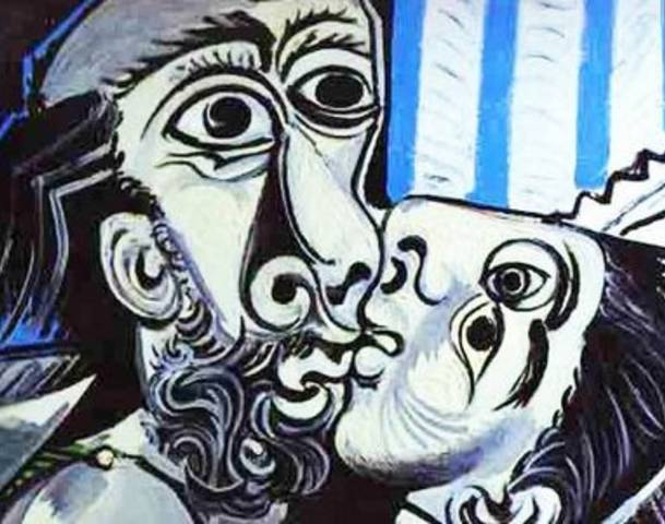 Picasso Painting The Kiss