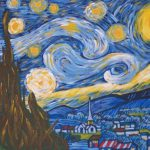 Picture Van Gogh Starry Night Acrylic Painting Kit