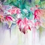 Pink Flower Watercolor Painting