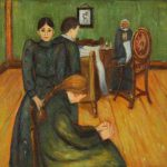 Pobfa Death The Sick Chamber Edvard Munch