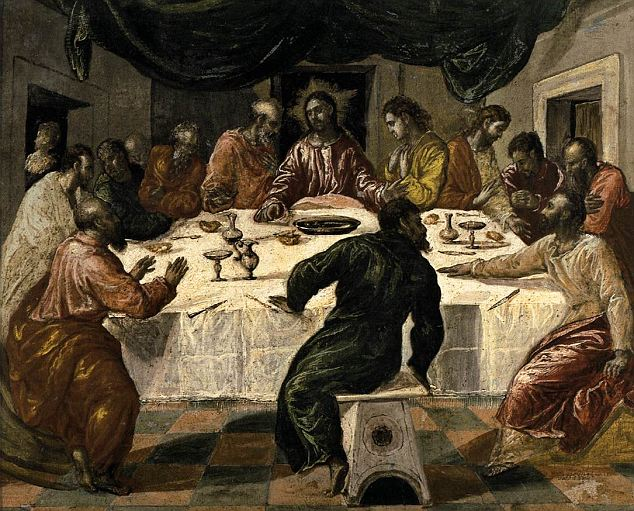 Portions Have Increased Paintings Christ Final Meal