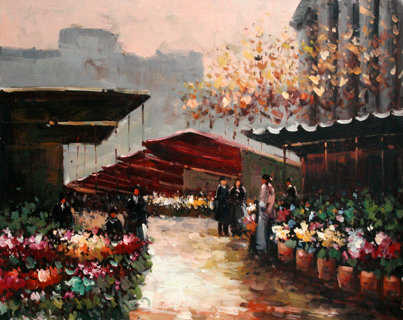 Pure Handmade Building Oil Paintings Canvas For Sale Bop