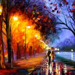 Raining Weather That Romantical Painting Fall Love