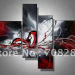 Red Black White Abstract Oil Paintings Canvas Home Decoration Modern