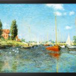 Red Boats Argenteuil Claude Monet Painting