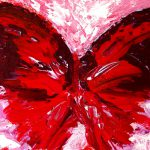 Red Butterfly Painting Fine Art Print