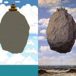 Ren Magritte Art Reimagined Super Mario Bros