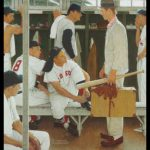 Rockwell Painting Red Sox Heads Nyc Auction
