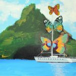 Salvador Dali Inspired Butterfly Catamaran Paintings