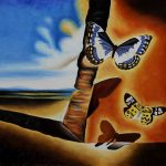 Salvador Dali Landscape Butterflies Paintings For Sale From