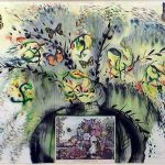 Salvador Dali Paintings Les Fleurs Fruite Painting