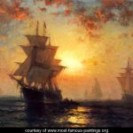 Ships Night Edward Moran Most Famous Paintings